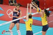 奥运图:女排决赛巴西夺冠 拦网空挡