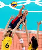 奥运图:女排决赛巴西夺冠 小斜线
