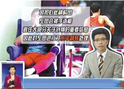 """央视摆乌龙刘翔伤""""换""""脚 公开道歉称手语惹祸"""