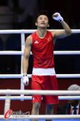 奥运图:邹市明卫冕拳击49KG冠军 握拳庆祝