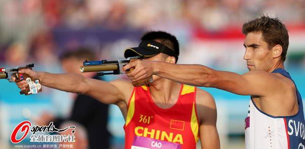 奥运图:现代五项中国创历史摘银 射击比赛
