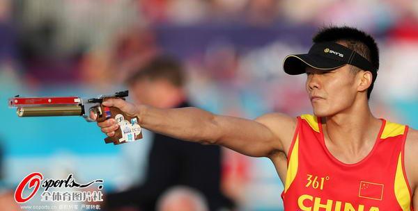 奥运图:现代五项中国创历史摘银 射击比赛中