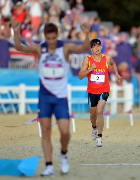 奥运图:现代五项中国创历史摘银 终点落后