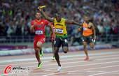 奥运图:博尔特领牙买加队夺冠  博尔特夺冠