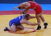 奥运图:男子自由式摔跤120斤级 颁奖仪式