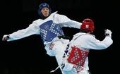 奥运图:男子80公斤以上级跆拳道 刘哮波摘铜牌