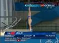 奥运视频-邱波动作完美跃居第一 跳水10米台赛