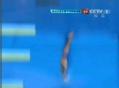奥运视频-邱波翻腾动作获92.4分 跳水10米台赛