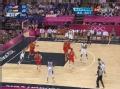 奥运视频-詹皇杀进内线抛投 男篮美国VS西班牙