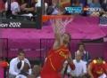 奥运视频-加索尔演单手暴扣 男篮美国VS西班牙
