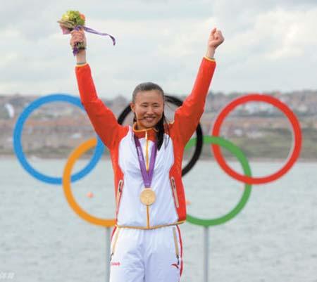 徐莉佳成为伦敦奥运会闭幕式中国旗手。(资料图片)
