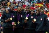奥运图:男篮颁奖巨星狂欢 梦之队四巨头