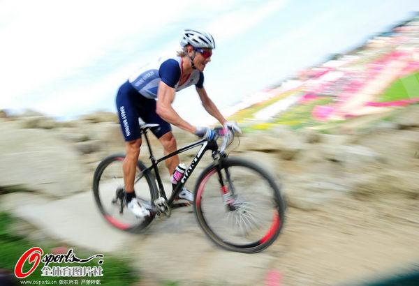 奥运图:山地自行车库哈维夺冠 比赛中