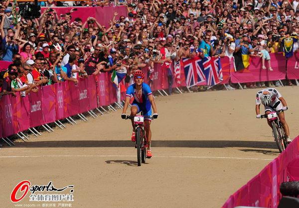 奥运图:山地自行车库哈维夺冠 抵达终点