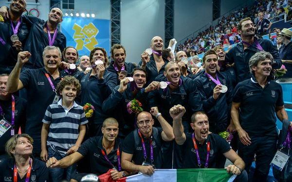 奥运图:男子水球克罗地亚夺冠 意大利队获银牌
