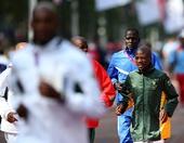 奥运图:独立参赛者马拉松第47名 热身运动