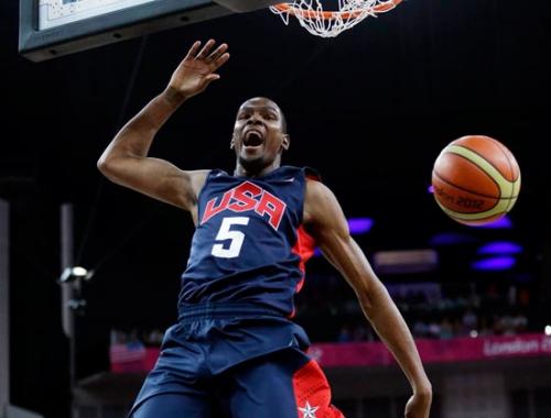 美国男篮夺冠 评分:杜兰特完美 詹姆斯力压科比