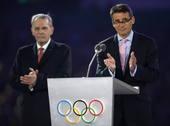 奥运图:各国政要现身闭幕式 里约市长帕耶斯
