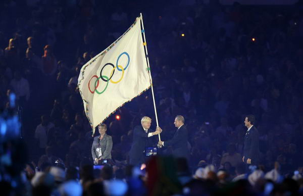 奥运图:各国政要现身闭幕式 鲍里斯旗交予罗格
