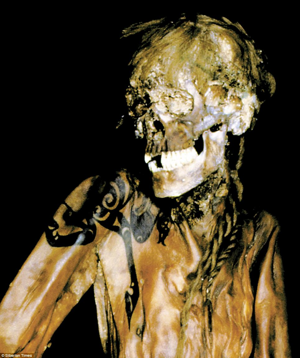 纹身 西伯利亚/俄发现一西伯利亚公主尸体 纹身2500年仍可见(组图)