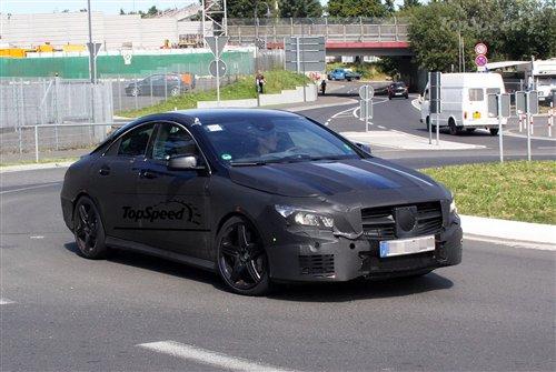 或2013年发布 奔驰CLA 45 AMG谍照曝光