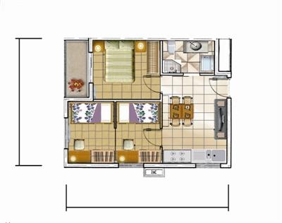 使公租房能快速复制 最小建筑面积30m2 公租房设11种户型图片