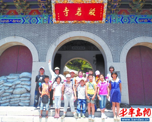 胶州小记者参观般若寺