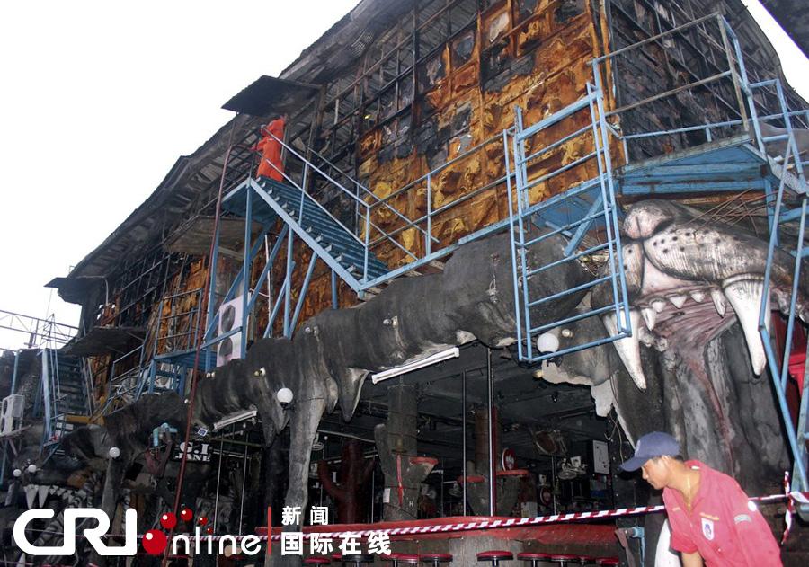 泰国普吉岛一夜店发生火灾 致4死11伤(高清组图)