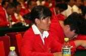 图文:中国体育代表团表彰大会 切阳什姐在现场