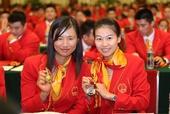 图文:中国体育代表团表彰大会 易思玲和徐莉佳