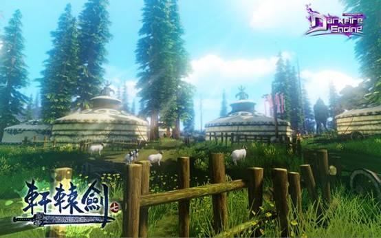 《轩辕剑7》实际游戏画面――拓拔部落