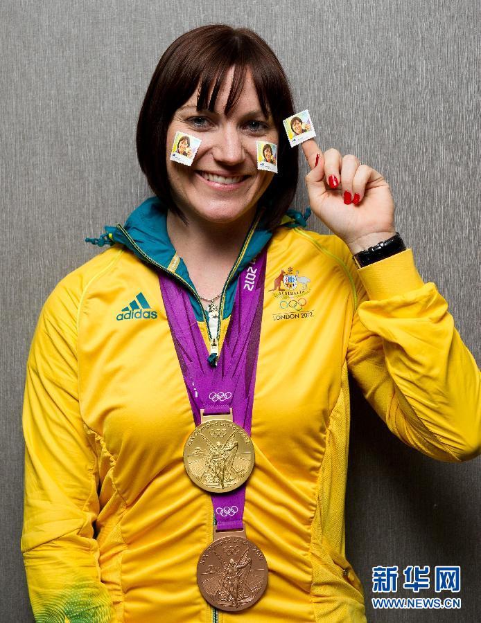 8月21日,在澳大利亚墨尔本市,在伦敦奥运会上获得冠军的运动员代表
