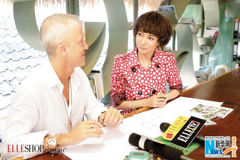 王珞丹/王珞丹为公益跨界设计师为扶持苗绣设计慈善珠宝(组图)
