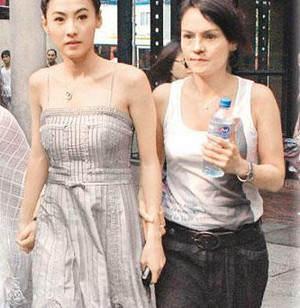 张柏芝与妈妈