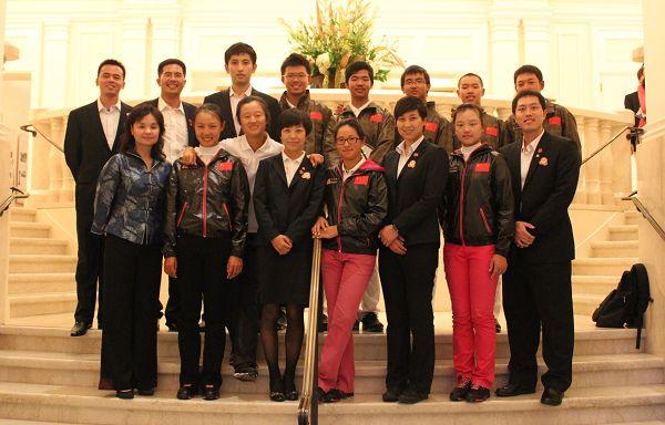 中国代表团全体人员在旧金山奥林匹克俱乐部