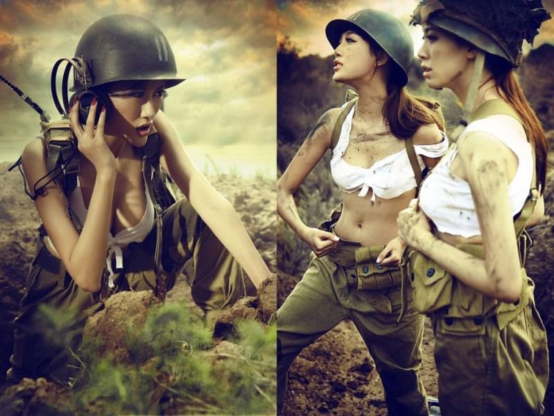 另类二战:性感美女扮美军模拟作战(高清组图)-