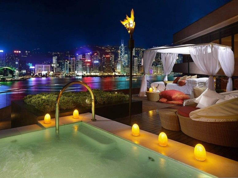 中国香港洲际酒店的露台套房