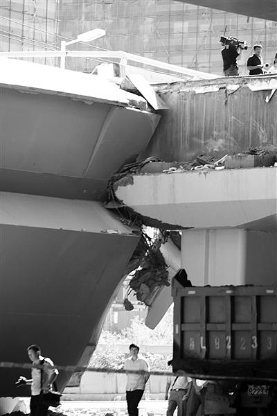 大桥断裂处。图/CFP