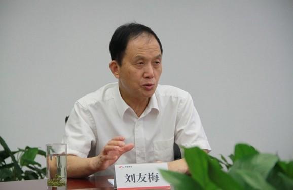中国工程院院士刘友梅接受记者采访