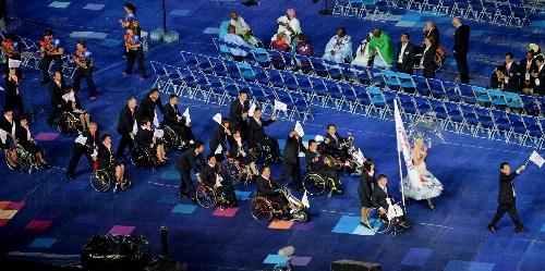 伦敦残奥会开幕式举行 中华台北队入场