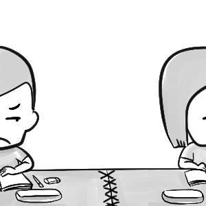 我的同桌简笔画卡通