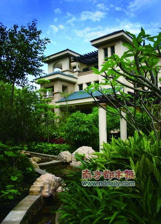 十余别墅千套货,或是深圳集体最后的别墅亮相(图)后入户门别墅的图片