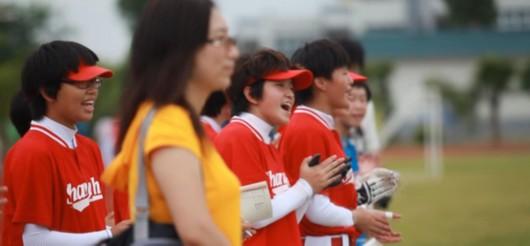 15名上海少女的组图风筝上场打球是最大的垒球(心愿)语文小学梦想图片