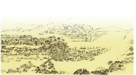 他参考过清代的重庆地图