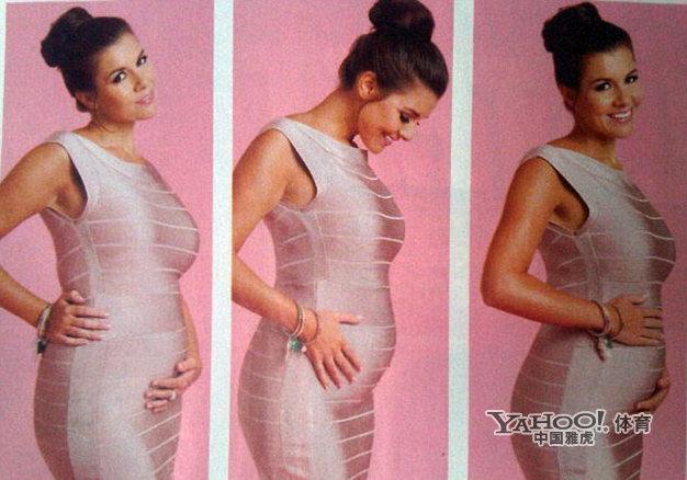 抚擦小姐_前威尔士小姐伊莫金-托马斯拍摄了一组孕期写真,手抚小腹体现浓浓母爱