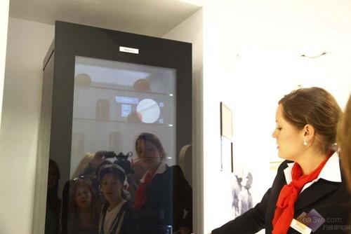 海尔透明液晶面板冰箱