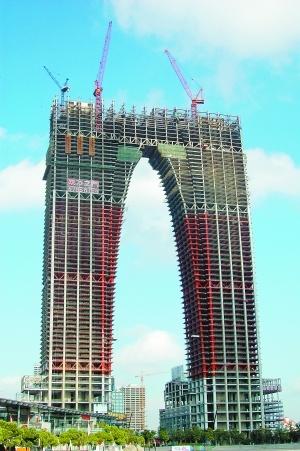 苏州裤衩楼_苏州在建地标建筑被指外形像\