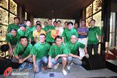 图文:足球记者联队成立 全体合影