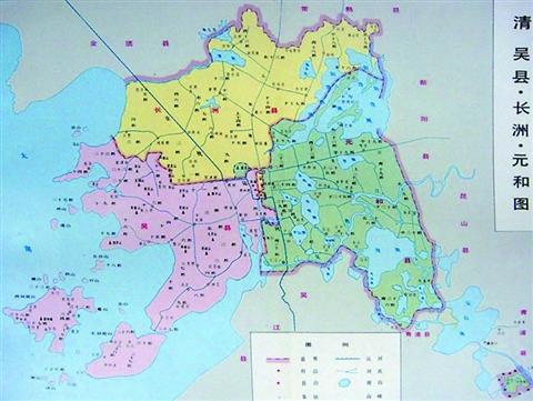 咸丰年间 通州地图
