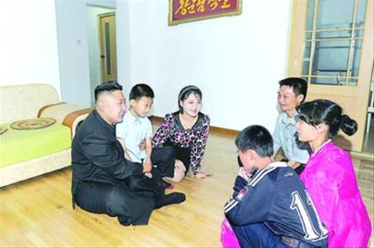 金正恩夫妇走访朝鲜普通家庭(图)